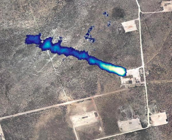 2019 methane plume from Permian Basin